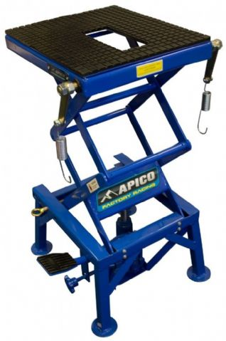 APICO HYDRAULIC SCISSOR LIFT BIKE STAND BLUE